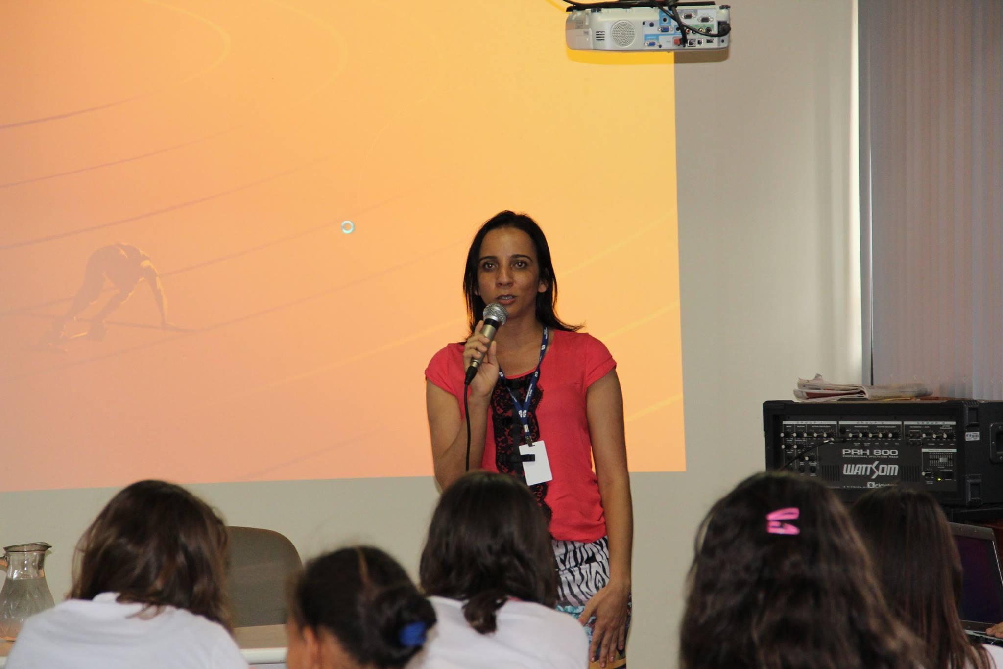 Profa. Damiana, Coordenadora do Projeto de Extensão Museu de História