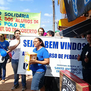 Alunos do curso de Pedagogia do Polo de Educação Superior de Santo Antônio do Descoberto realizam ação social em prol do Lar do Idoso Myriam Pelles