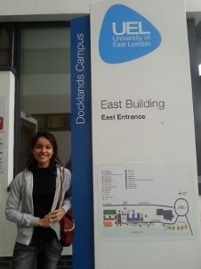 Bruna Barros, estuda na University of East London