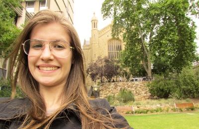 Jucilene, estuda na University of Adelaide - Austrália