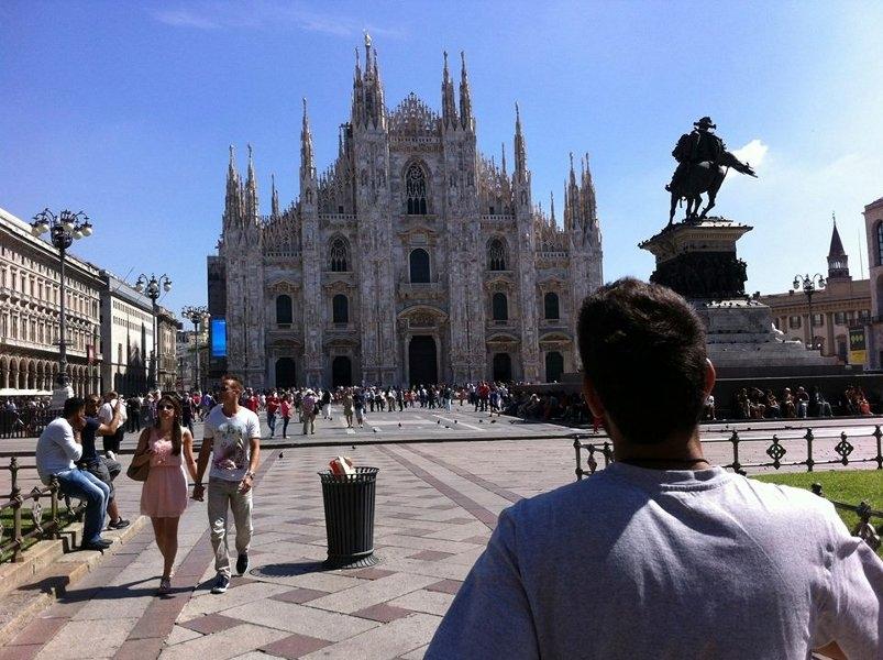 Foto de Eduardo Feitosa que estuda Arquitetura na Politécnica de Torino - Itália.