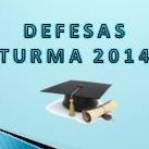 Defesa de dissertação da turma 2014