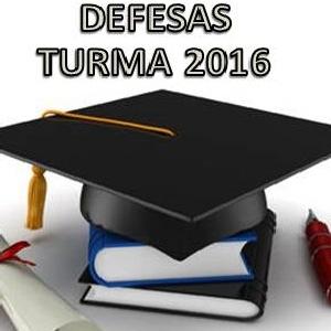 Defesa de dissertação da turma 2016