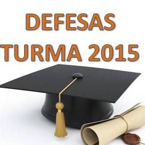 Defesa de dissertação da turma 2015