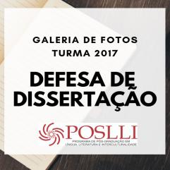 Defesa de dissertação  - TURMA 2017